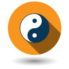 Ying Yang icon in flat style