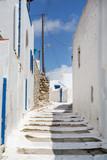 Fototapety Typische Gasse auf den Kykladen in Griechenland