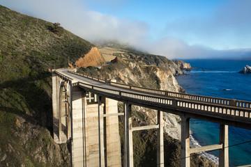 Historic Bixby Bridge, California coast
