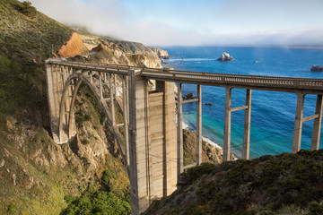 Historic Bixby Bridge, California coast