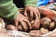 mercato in marocco cesto di patate