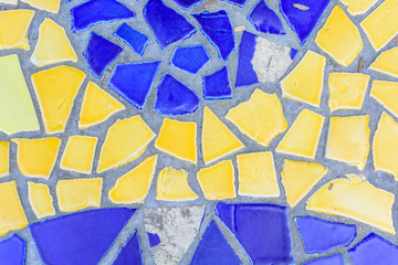 Colorful glass mosaic art