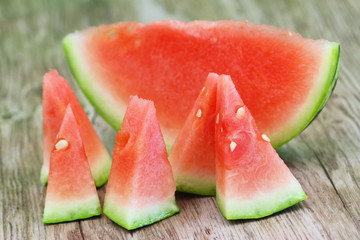Fresh watermelon pieces