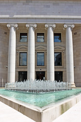 Columns and water