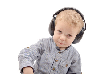 baby and headphones