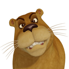 3d  female cartoon lion