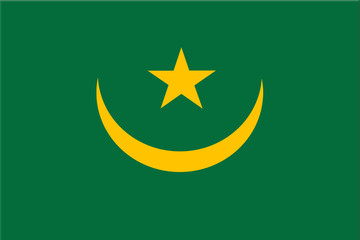 National flag of Mauritania