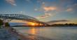 Bluewater Bridge, Sarnia, Ontario sunset