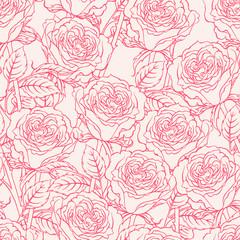 sketch roses