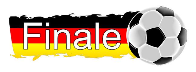 Fußball mit Deutschlandfahne Finale