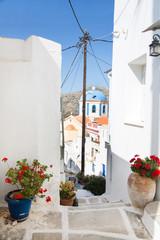 Architektur auf der Insel Serifos auf den Cycladen.