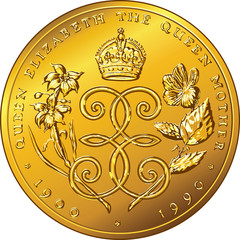 vector money gold coin Dollar Bermuda