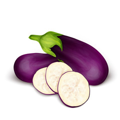 Eggplant aubergine isolated