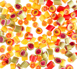 fruit candies for background