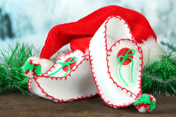 Decorative Christmas shoes with Santa hat
