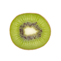 Sliced kiwi fruit isolated on white background