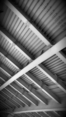 Abstract steel constructions of automotive bridge
