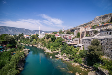 Mostar view from bridge