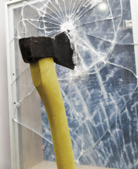 Axe to smash the window