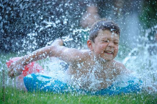 Summer slide splash
