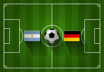 Fußball FINAL Argentinien vs. Deutschland