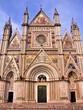 Ornate facade of the Duomo of Orvieto, Italy