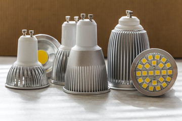 different sizes of cooling for LED GU10 bulbs