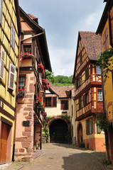 Haut Rhin, the picturesque city of Kaysersberg in Alsace
