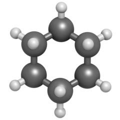 Cyclohexane chemical solvent molecule.