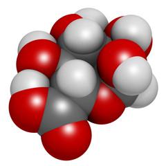 Glucuronic acid molecule.