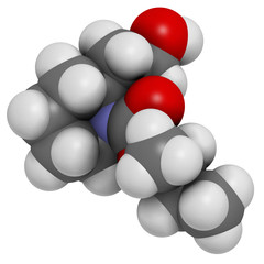 Icaridin (picaridine) insect repellent molecule.