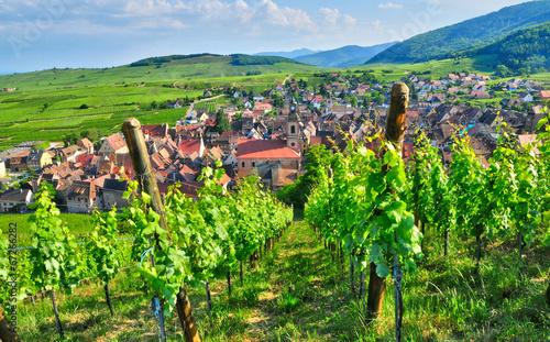 France, picturesque village of Riquewihr in Alsace - 67266282