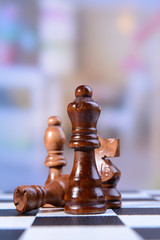 Chess game, close-up