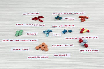 Prescription drug lottery, close-up