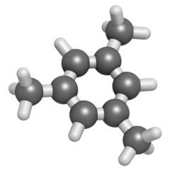 Mesitylene aromatic hydrocarbon molecule.