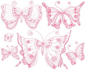 蝶々 刺繍レース