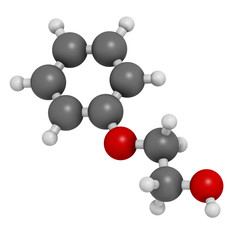 Phenoxyethanol preservative molecule. Used in cosmetics.