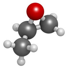 Propylene oxide molecule. Used as fumigant.