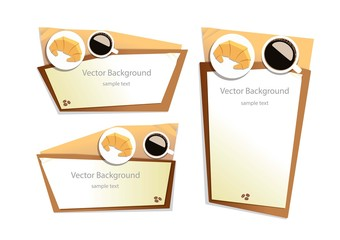 vector coffee top view background graphic