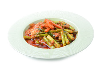 Stir fried variety of vegetables , Thai style food