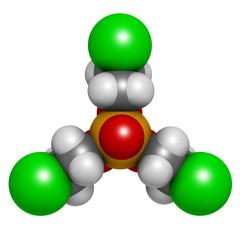 TCEP [tris(2-chloroethyl) phosphate] molecule