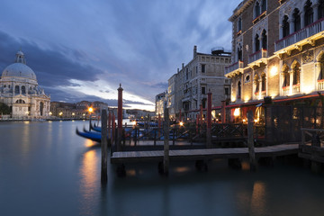Venetian Grand Canal at Night