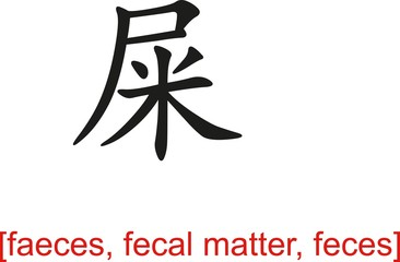 Chinese Sign for faeces, fecal matter, feces