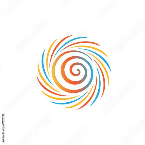 Streszczenie kolorowy obraz wirowa. Pojęcie huraganu