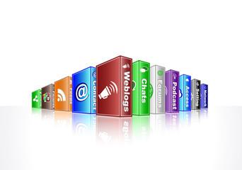 social media concept - weblogs