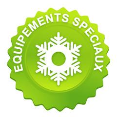 équipements spéciaux sur bouton web denté vert