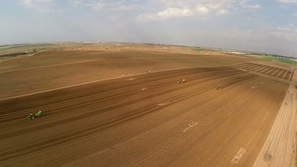 Flight over Potato field