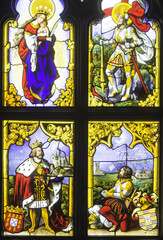 Stained Glass in Castle