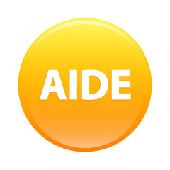 bouton internet aide icon orange sign