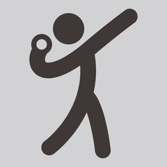 Shot put icon